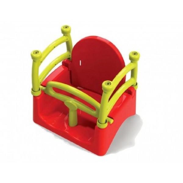 Качель подвесная Doloni Красная с жёлтым