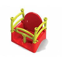 Качель подвесная Doloni Красная с жёлтым, фото 1