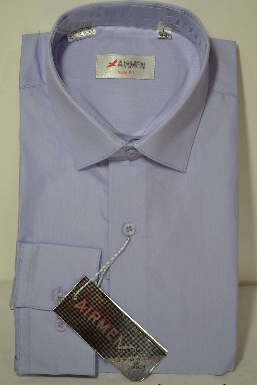 Сиреневая приталенная рубашка AIRMAN (размер M,L, XL, XXL,XXXL)