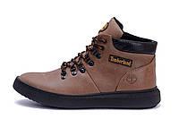 Мужские зимние кожаные ботинки Timberlend Zaragoza Olive (реплика)