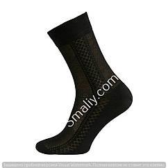 Мужские классические носки  сеточкой