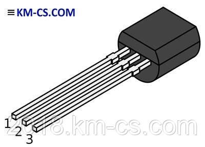 Транзистор биполярный pnp BC640BU (Fairchild)