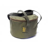 Ведро для прикормки с крышкой мягкое сумка для рыбалки Kibas (Кибас) SMART Fishing Хаки