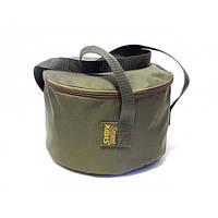 Відро для підгодовування з кришкою м'яке сумка для риболовлі Kibas (Кибас) SMART Fishing Хакі