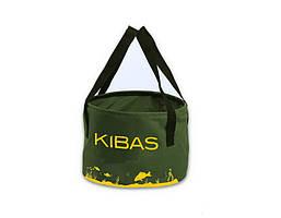 Відро для підгодовування без кришки м'яке сумка для риболовлі Kibas 300х200 мм Зелений