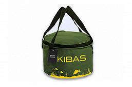 Відро для приготування прикормки м'яке складне c кришкою Kibas (Кибас) D 300 Зелений