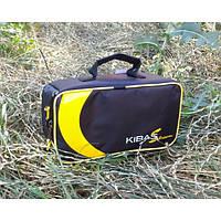 Футляр чохол для двох котушок і аксесуарів жорсткий Kibas (Кибас) 260х130х90 мм Original Чорний