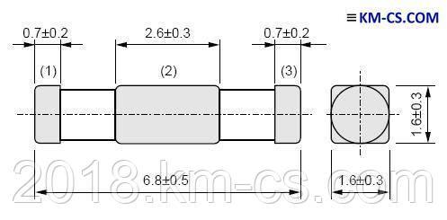 Фильтр радиопомех NFE61PT102E1H9L (NFM61R10T102T1) (Murata Electronics)