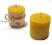 Свечи из вощины катаные ручной работы (высота 5 см диаметр 4,5 см)
