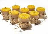 Свечи из вощины катаные ручной работы (высота 5 см диаметр 4,5 см), фото 3