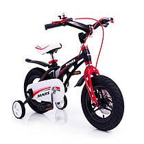 Детский алюминиевый велосипед MARS 14 дюймов черный