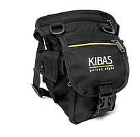 Поясная сумка-держатель на бедро Kibas 260х160х130 мм Чёрная с жёлтым