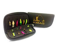 Кошелек сумка для блесен Чехол футляр для мормышек Kibas L 190х100х20 мм Хаки