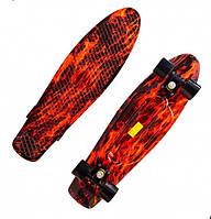 Скейт Penny Board  Пенни борд  Fire (Огонь)  до 80 кг