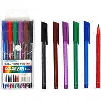 Набор цветных ручек, 6 цветов, 1 мм