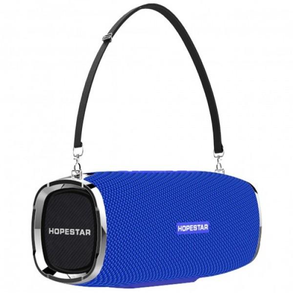 Беспроводная портативная Bluetooth колонка Hopestar A6 Синий (19124а)