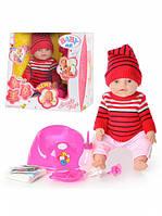 Кукла пупс Baby doll (красный вязаный) 8001