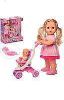 Кукла М 5444 UA, 41см, ходит, муз-звук (укр), пупс, коляска, посуда, на батарейках.