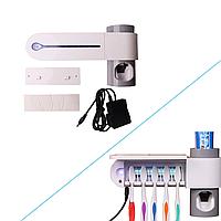 Ультрафиолетовый стерилизатор зубных щеток + дозатор зубной пасты
