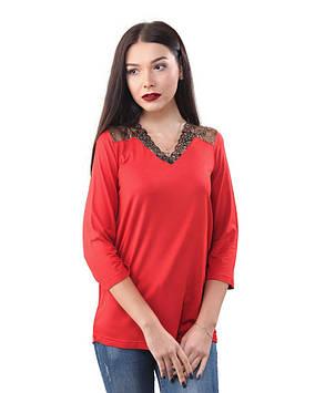 Яскравий пуловер великих розмірів (від 42 до 58)