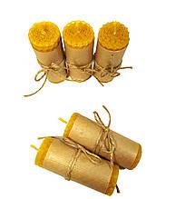 Свечи из вощины катаные ручной работы (высота 8 см диаметр 3,3 см)
