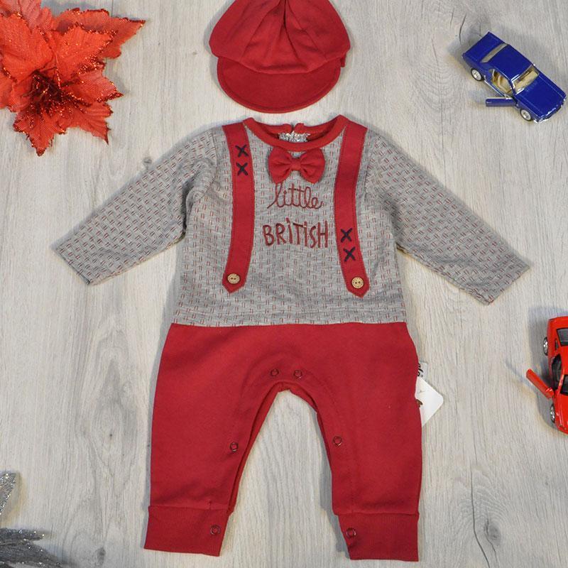 Детский комплект интерлок (человечек, кепка), для новорожденных 56-62-68 см (3 ед. в уп. )