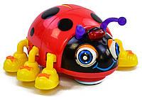 Музыкальная игрушка Танцующий Жук Божья Коровка свет, музыка, на батарейках, в коробке