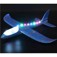 Планер самолет Benilo Большой светящийся 49 см Синий