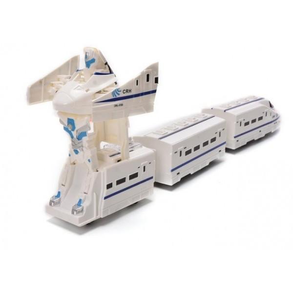 Робот поезд-трансформер Wonder Play со светящимся треком