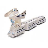 Робот поезд-трансформер Wonder Play со светящимся треком, фото 1