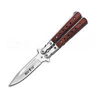 Бабочка нож складной охотничьи ножи купить нож бабочка Хит городских Нож Балисонг 134-40 деревянная рукоять