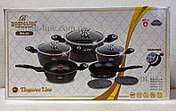 Набір посуду Bohmann BH 40 BLACK 10 предметів, фото 1