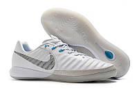Футзалки (бампы) Nike TiempoX Finale IC White/Metallic Cool Grey/Blue Hero, фото 1