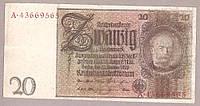 Банкнота Германии 20 марок 1929 г VF