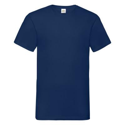 Летняя молодежная футболка V-образным вырезом синяя - S, M, L, 2XL, 3XL