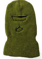 Маскировочная зимняя балаклава из вязанной пряжи., фото 1
