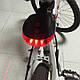 Фонарь на велосипед задний 5 LED 2 лазера, красный, фото 4