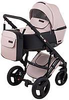 Коляска детская 2 в 1 Richmond Mirello Plus кожа 100% розовый перламутр - черный