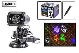 Лазерный проектор  X-Laser для улицы и дома 4 цвета водонепроницаемый