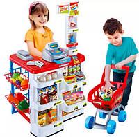 """Детский игровой набор """"Супермаркет"""" с прилавком, кассой и тележкой, фото 1"""