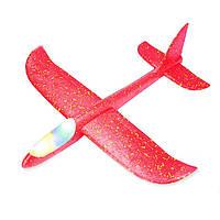 Літак планер зі світною кабіною Великий 49 см Червоний