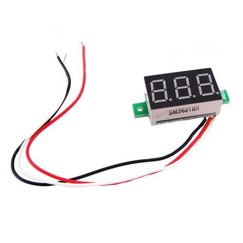 Цифровий вольтметр 4.5-30В LED вимірювач вольтажу