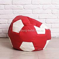Кресло мяч 60 см | белый+красный кожзам Zeus