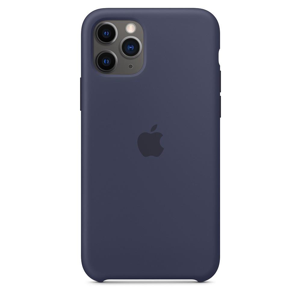 Силиконовый чехол iPhone 11 Pro Max (2019) Midnight Blue синий