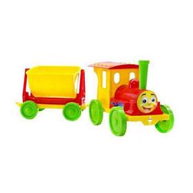 Поезд-конструктор (красно-желтый)  sco