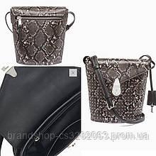 Сумочка Calvin Klein Lock python small bucket bag