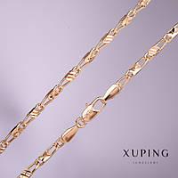 Цепочка Xuping плетение Мадлена s-3мм L-45см позолота 18к