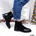 Женские зимние ботинки в черном цвете из натуральной замши/кожи 36 38 ПОСЛЕДНИЕ РАЗМЕРЫ, фото 4