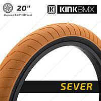 "Kink Sever BMX Покрышка шина диаметр 20"" ширина 2.40"" оранжевый"