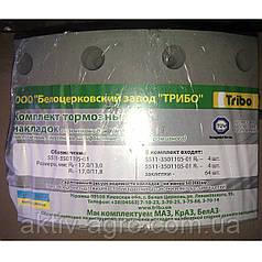 Комплект тормозных накладок КамАЗ с заклепками